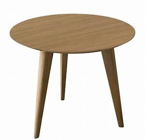 Table Basse Pied Bois : table basse lalinde ronde small 45 cm pieds bois ~ Teatrodelosmanantiales.com Idées de Décoration