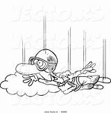 Cartoon Coloring Skydiving Outline Guy Toonaday Ecigarette Vapoteurs Repaire Vecto Rs sketch template