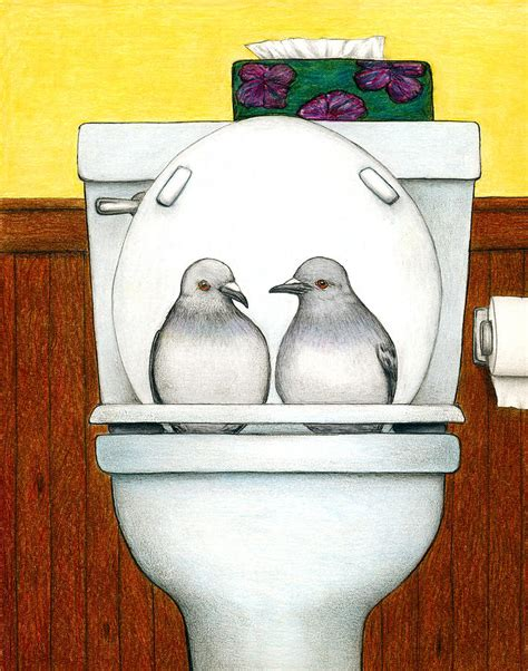 What Does Stool Pigeon - stool pigeon drawing by don mcmahon