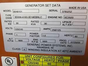 30 Kw Generac Diesel Generator - Usedshelter Com