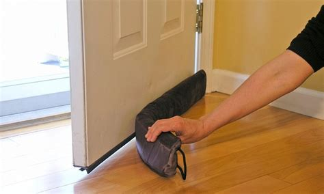 draft door stopper magnetic door draft stopper groupon goods