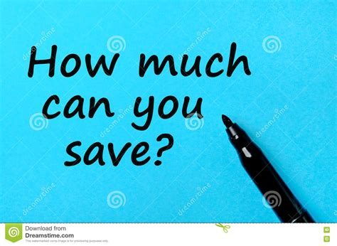 How Much Can You Save Text Concept Royaltyfree Stock