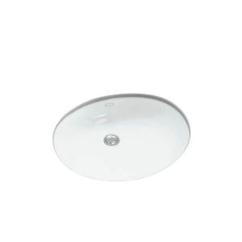 Kohler Caxton Sink Home Depot by Kohler Caxton Mounted Bathroom Sink In White K 2210