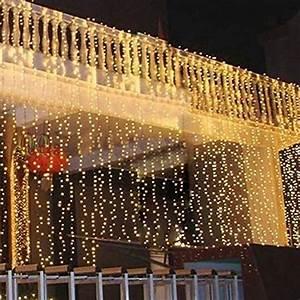 Lichterkette Vorhang Innen : zuoao 3mx3m lichterkette vorhang licht 8 modi 300 led wei lichtervorhang weihnachtsbeleuchtung ~ Orissabook.com Haus und Dekorationen