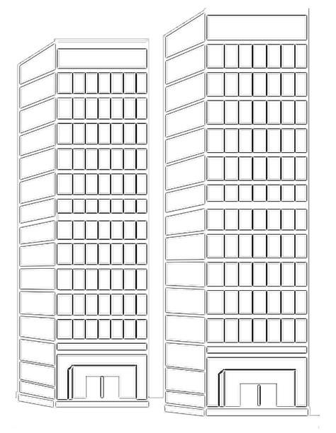 bureau de dessin en btiment gratte ciel 2 b 226 timents et architecture coloriages 224 imprimer