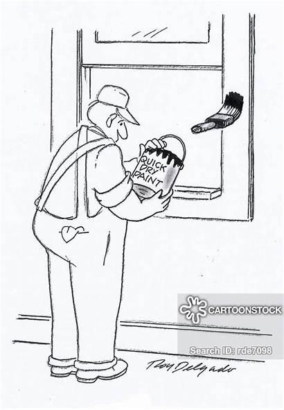 Paint Brush Labourers Cartoon Cartoons Funny Painter