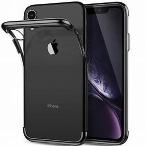 hülle für apple iphone xr transparent mit schwarzen rahmen