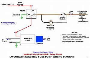 Electric Fuel Pump Circuits With A Relay