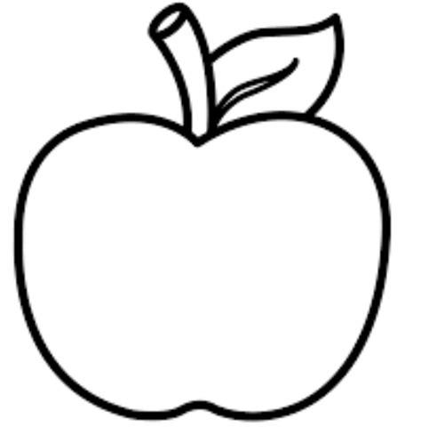 mewarnai gambar buah apel tema seni lembar mewarnai buah
