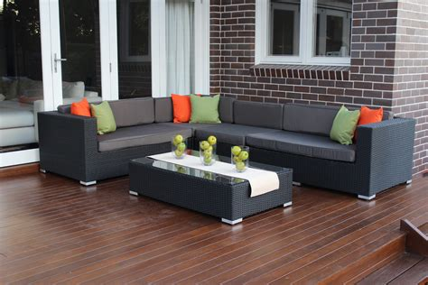 Outdoor L by L Shape Modular Outdoor Wicker Furniture Setting Outdoor
