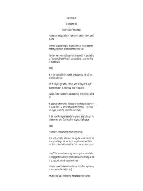 man speech examples   templates   word