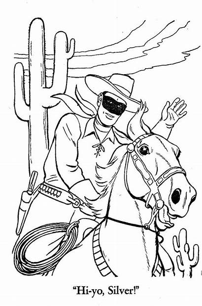 Coloring Pages Ranger Lone Sheets Western Horse