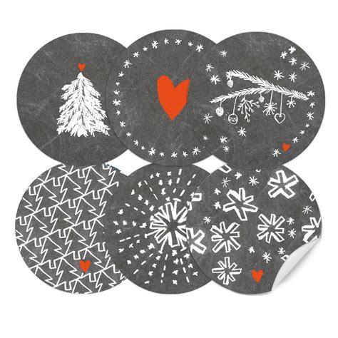 Weihnachtsdeko Grau Weiß by 24 Gemischte Weihnachstetiketten Als Weihnachstdeko Grau