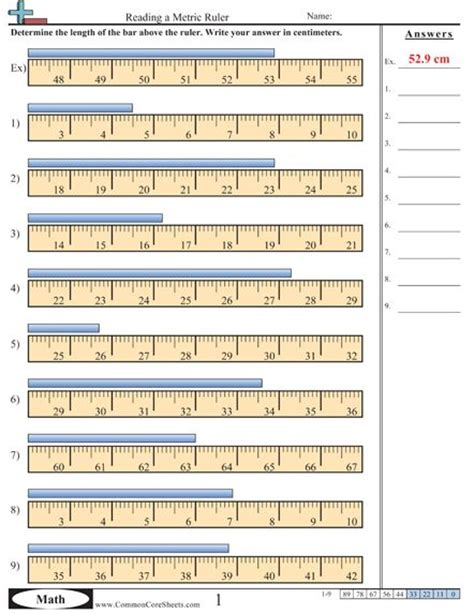 worksheet e more measurement worksheet activities this one involves a ruler should be used