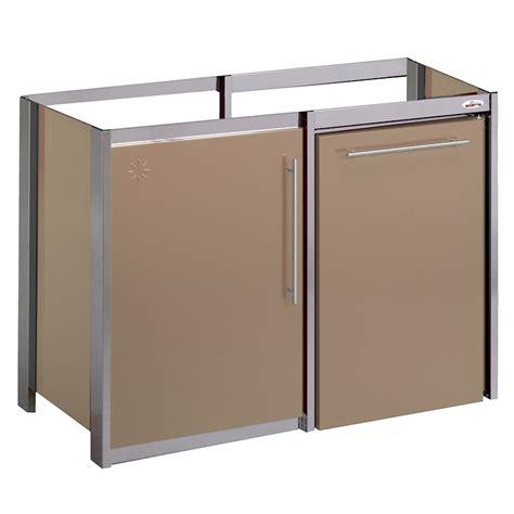 moderna cuisine meuble métalline métal thermolaqué 120x60 1 porte habillage réfrigérateur cappuccino moderna