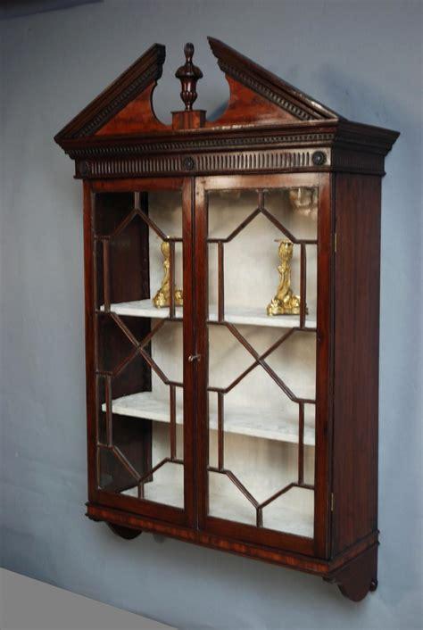 Mahogany Hanging Bookcasedisplay Case 266129
