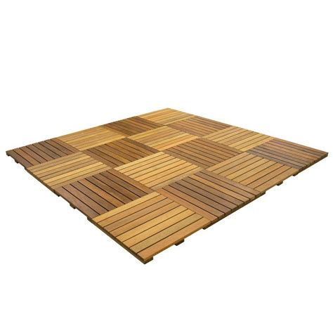Ipe Deck Tiles Home Depot by Deckwise Wisetile 8 Ft X 8 Ft 64 Sq Ft Solid Hardwood