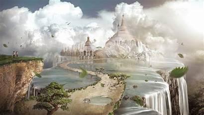 Edge Wallpapers Fantasy Background Desktop Earth Castle