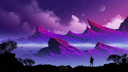 Mountains Clouds Silhouette Lonely Background Widescreen Loneliness