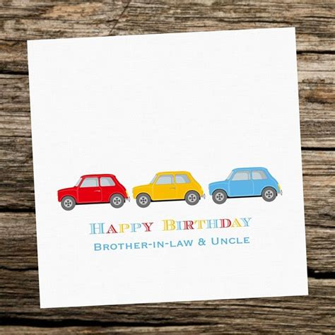 handmade personalised classic mini cars birthday card
