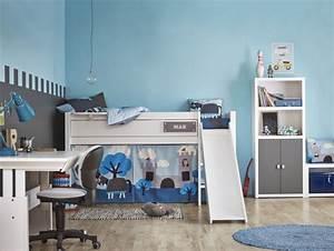 Chambre Garcon Bleu Et Gris : lit mezzanine enfant 25 belles id es gain d 39 espace ~ Dode.kayakingforconservation.com Idées de Décoration