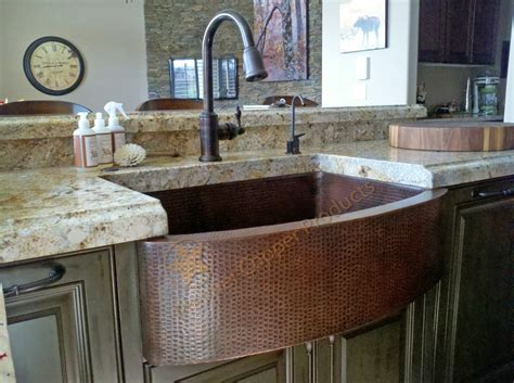 kitchens with copper sinks 838mm hammered copper kitchen rounded apron single basin sink 6611