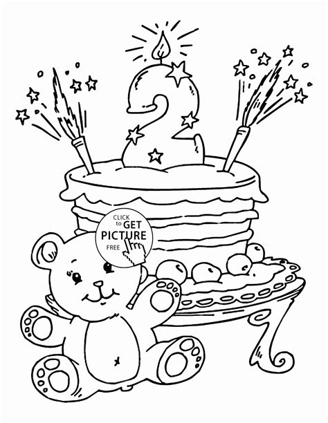 happy  birthday coloring pages  getcoloringscom