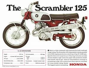 Honda 125 Twin : details about honda brochure cl125 cb125 twin 1960s repro ~ Melissatoandfro.com Idées de Décoration