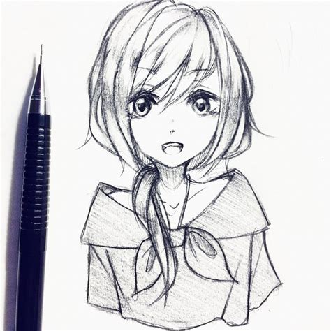 Anime drawings helps you draw a series of anime girls without having trouble seeing tedious tutorials. Anime Drawings Easy Girl at PaintingValley.com   Explore collection of Anime Drawings Easy Girl