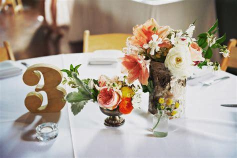 Barn Wedding Centerpieces : Sweet Trolley Barn Wedding