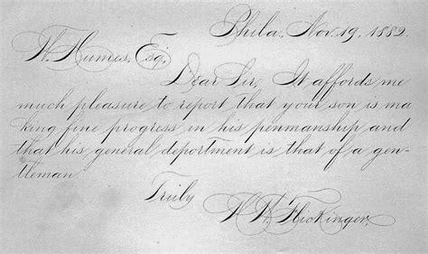 copper plate handwriting hand writing