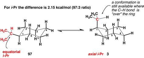 Chair Conformations Of Tetra Substituted Cyclohexane by Substituted Cyclohexanes A Values Master Organic