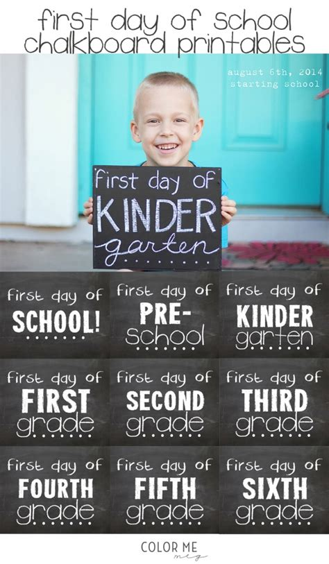day of school chalkboard template 25 unforgettable day of school pictures you need to take simple made pretty