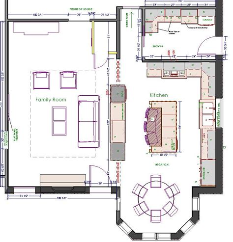 One Story House Plans With Large Kitchens by Large Kitchen Design Floor Plans Kitchen Floor Plans In