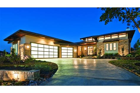 contemporary prairie style house plans small home one home plan homepw75737 4237 square 4 bedroom 4
