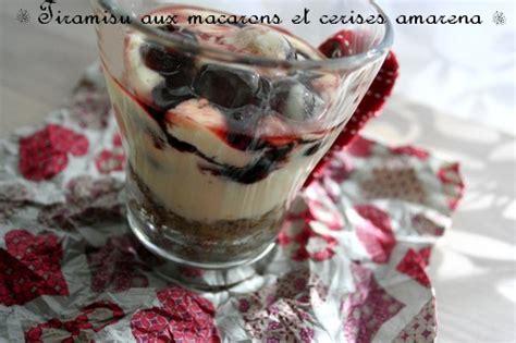 tiramisu aux macarons et cerises amarena miam chouchie
