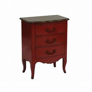Commode 3 Tiroirs : commode 3 tiroirs rouge interior 39 s ~ Teatrodelosmanantiales.com Idées de Décoration