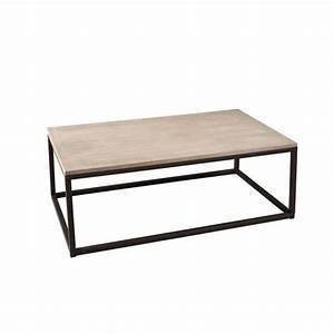 Table Bois La Redoute : table basse industrielle rectangulaire m tal et bois 115cm lali bois lazur pier import la redoute ~ Melissatoandfro.com Idées de Décoration