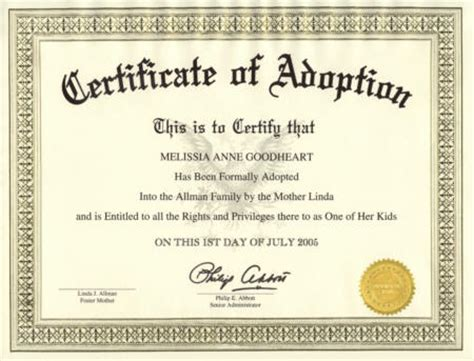 Blank Adoption Certificate Template by November 2011 Andr 233 Bakes His Way Through Martha