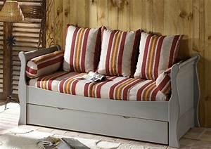 acheter votre banquette lit gigogne couchage en 80x190 With magasin de canapé lit