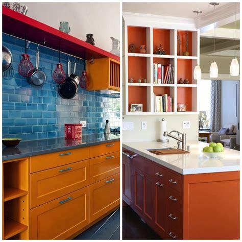 Orange Cabinet by 4 Ways To Use Orange In Your Kitchen