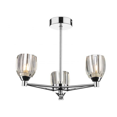 cosmic 3 light semi flush ceiling light for low ceilings