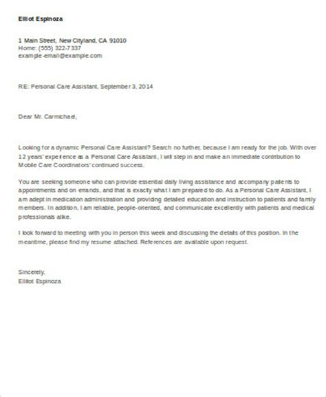 6 personal assistant cover letter sle templates