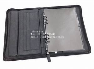 pu leather conference file folders leather document folder With leather document file