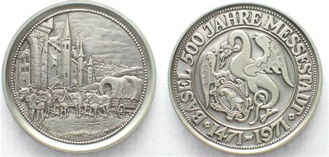Schweiz - Medaillen BASEL 1971 500 JAHRE MESSESTADT ...