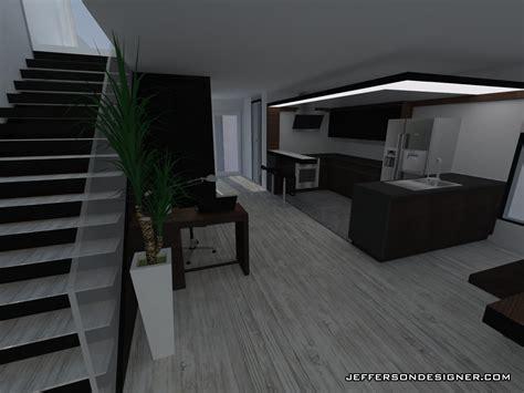 cuisine avec comptoir duplexe converti en maison moderne design interieur