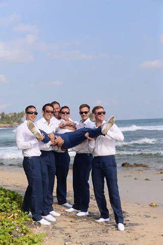 grant   groomsmen wore matching navy blue pants