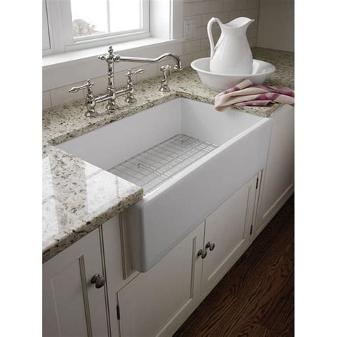 farmhouse faucet kitchen pegasus farmer apron front fireclay 29 3 4x18x10 0