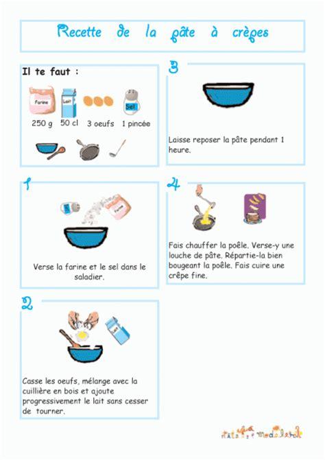 dessin recette de cuisine imprimer la recette de la pâte à crêpe illustrée chanson
