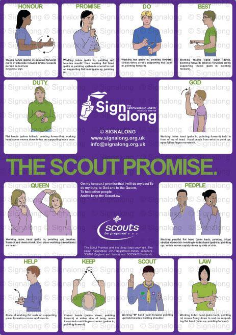 scout promise poster   sign language alphabet